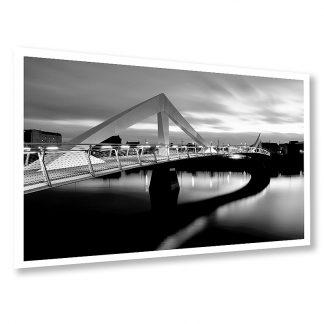 Squiggly Bridge Glasgow B&W - photo print