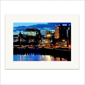 Thumbnail of Glasgow City Lights - mounted print