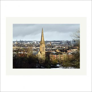 Thumbnail of Glasgow Winter View - mounted print