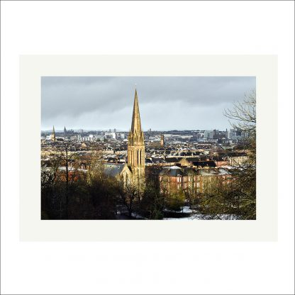 Thumbnail of Glasgow Winter View - mounted print