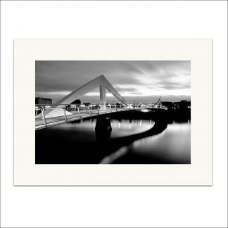 Squiggly Bridge monochrome - mounted print thumbnail