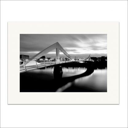 Squiggly Bridge monochrome - mounted print thumbnail