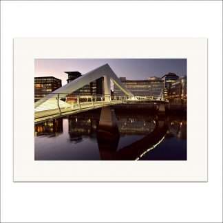Squiggly Bridge Sunset - Mounted Print thumbnail