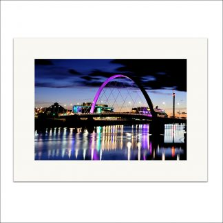 Squinty Bridge Glasgow - mounted print thumbnail