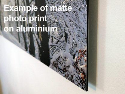 Matte Photo Print on Aluminium Example