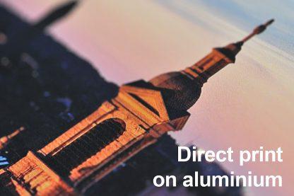 Direct Print on aluminium detail