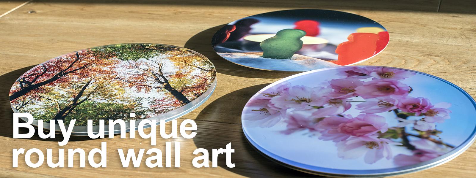 Buy unique round wall art