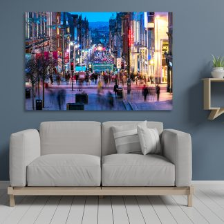 Buchanan Street Glasgow Dusk - Canvas