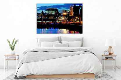 Glasgow City Lights - acrylic glass