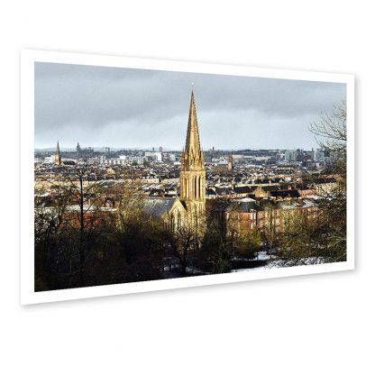 Glasgow Winter Landscape - Direct Print on Aluminium